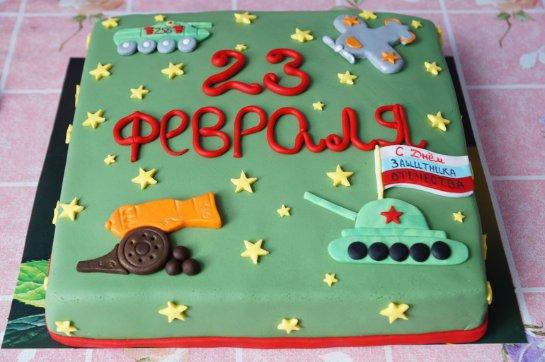 Спешите порадовать любимых оригинальным тортом на 23 февраля